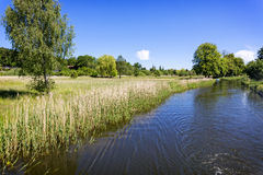 Scenic canal near Templin city, East Germany Royalty Free Stock Photos