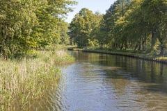 Scenic canal near Templin city, East Germany Royalty Free Stock Photography