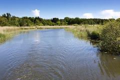 Scenic canal near Templin city, East Germany Royalty Free Stock Photo