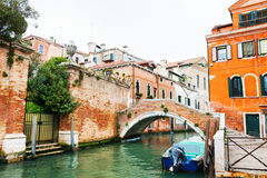 Scenic canal in Venice, Italy Stock Images