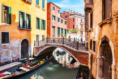 Scenic canal in Venice, Italy Royalty Free Stock Images
