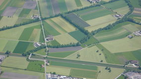 aerial view of farms and fields Stock Photography