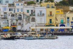 Scenic of capri island pier sorrento town mediterranean sea sout Stock Image