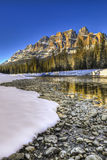 Scenic Castle Mountain Stock Images