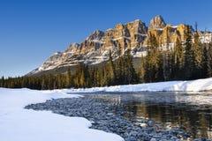Scenic Castle Mountain Stock Image