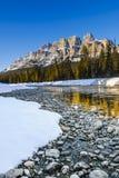 Scenic Castle Mountain Stock Photography