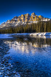 Scenic Castle Mountain Royalty Free Stock Photos