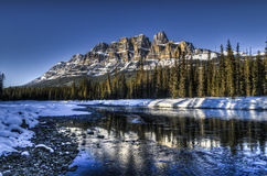 Scenic Castle Mountain Stock Photo
