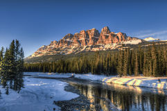 Scenic Castle Mountain Royalty Free Stock Photography