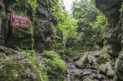 Scenic caves Stock Photography
