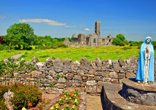 Scenic celtic architecture in the west of ireland. Vibrant scenic celtic architecture in the west of ireland Royalty Free Stock Images