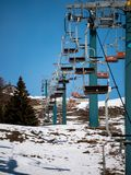 Scenic Chair Lift Rides royalty free stock image