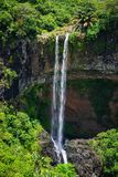 Scenic Chamarel waterfall in Mauritius island Stock Photography