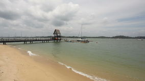 Scenic Changi Point Beach on a Cloudy Day in Singapore stock video