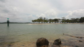 Scenic Changi Point Beach on a Cloudy Day in Singapore 1080p stock footage