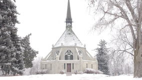 Scenic Chapel in Winter Stock Photography