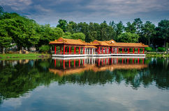 Scenic Chinese garden temple Royalty Free Stock Photography