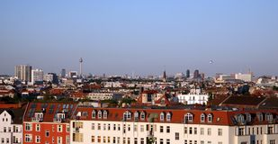 Scenic city view of Berlin. Scenic view of city buildings in Berlin Stock Photo