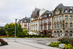 A scenic cityscape in Trier Stock Images