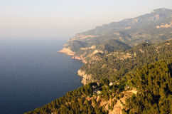 Scenic cliff in Majorca Royalty Free Stock Photography