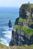 Scenic Cliff`s of Moher and the Needle in Ireland Royalty Free Stock Photography