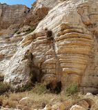 Scenic cliffs of Ein Avdat gorge in Israel Stock Photos