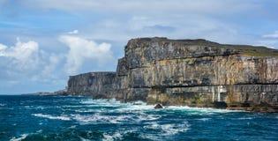 Scenic cliffs of Inishmore, Aran Islands, Ireland. Inishmore, Aran Islands, Galway Bay, Ireland Stock Photos