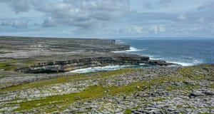 Scenic cliffs of Inishmore, Aran Islands, Ireland. Inishmore, Aran Islands, Galway Bay, Ireland Stock Photo