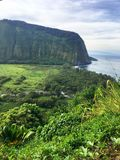 Scenic cliffs and ocean at Waipi'o Valley on the Big Island of Hawaii Royalty Free Stock Photography