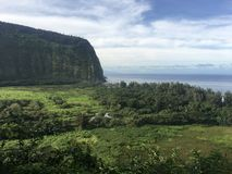 Scenic cliffs and ocean at Waipi'o Valley on the Big Island of Hawaii Stock Photography