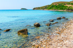 Scenic coast of the Aegean Sea Royalty Free Stock Photo