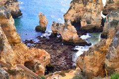 Scenic coast in Algarve, Portugal Royalty Free Stock Photography