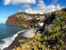 Madeira, South Coast, Camara de Lobos, Portugal. Scenic coast and Camara de Lobos - fishing village on the South coast. Madeira Island, Portugal. Europe Royalty Free Stock Image