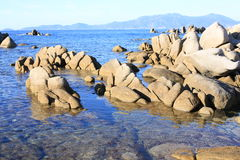 Scenic coast on Corsica Island, France Royalty Free Stock Photos