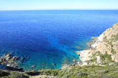 Scenic coast on Corsica Island, France Royalty Free Stock Images