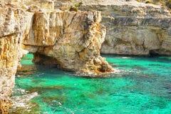 Coast Landscape Beaches, Greek Islands, Cyclades. Scenic coast landscape and beaches, Greek Islands. Cyclades - Greece. Europe stock photo