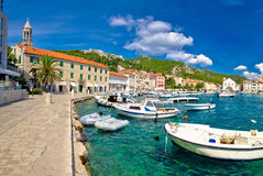 Scenic Coast Of Town Hvar Stock Images