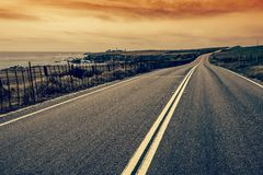 Scenic Coastal Road Royalty Free Stock Photography