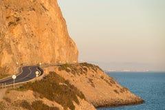 Scenic coastal road Royalty Free Stock Photo