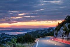 Scenic coastal route stock photos