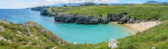 Scenic Coastline At Cabo De Mar, Between Llanes And Ribadesella, Asturias, Northern Spain Royalty Free Stock Image