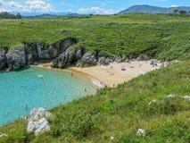 Scenic Coastline At Cabo De Mar, Between Llanes And Ribadesella, Asturias, Northern Spain Stock Photo