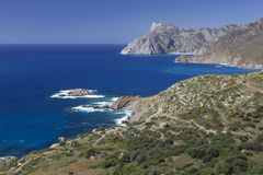 Scenic coastline on Karpathos, Greece Stock Photos