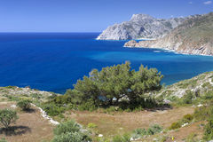 Scenic coastline on Karpathos island, Greece Royalty Free Stock Photography