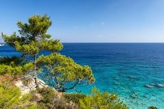 Scenic coastline on Karpathos island, Greece Stock Photos