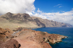 Scenic coastline landscape, Punta de Teno, Tenerife Canary Island, Spain. Royalty Free Stock Photo