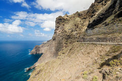 Scenic coastline landscape, Punta de Teno, Tenerife Canary Island, Spain. Royalty Free Stock Photography
