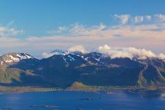 Scenic coastline on Lofoten Royalty Free Stock Photo