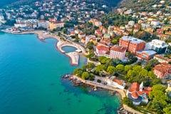 Free Scenic Coastline Of Opatija And Slatina Beach Aerial View Royalty Free Stock Image - 138622226