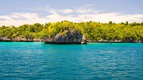 Scenic coastline in the Togian archipelago Stock Photography